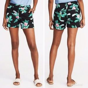 Old Navy | Everyday Floral Tropical Cotton Shorts